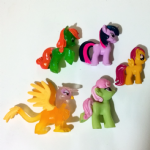 My Little Pony collection of small pvc modern toys